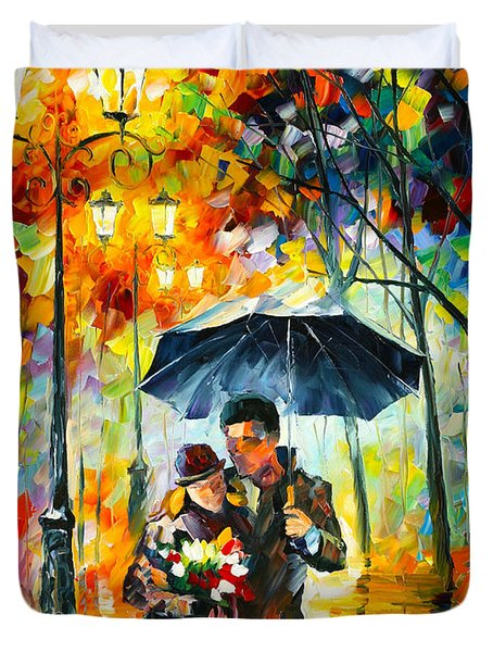 Warm Night Duvet Cover by Leonid Afremov