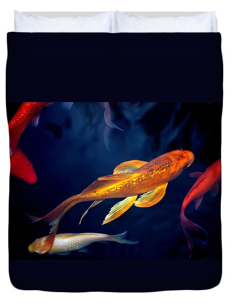 Water Ballet Duvet Cover by Martina  Rathgens