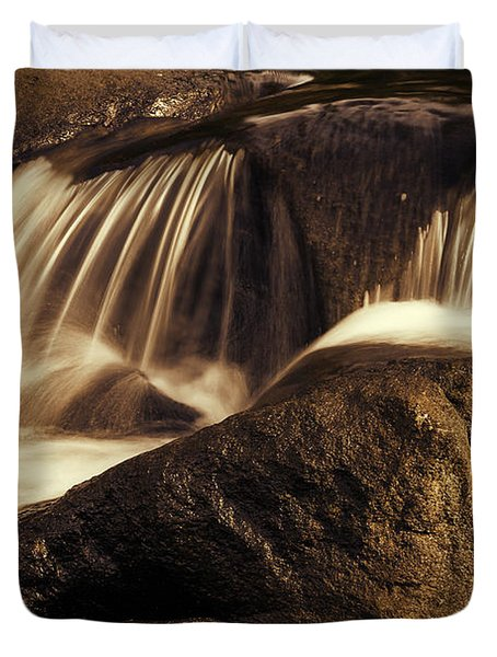 Water Flow Duvet Cover by Les Cunliffe