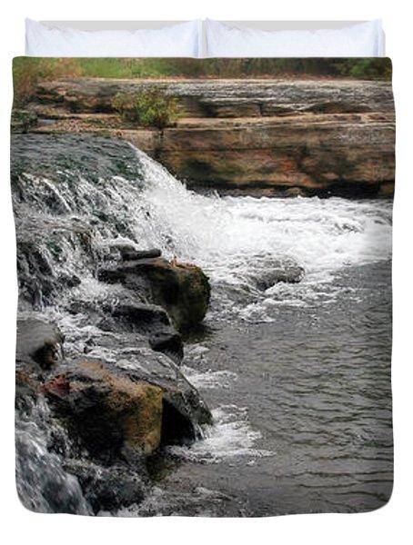 Spring Creek Waterfall Duvet Cover