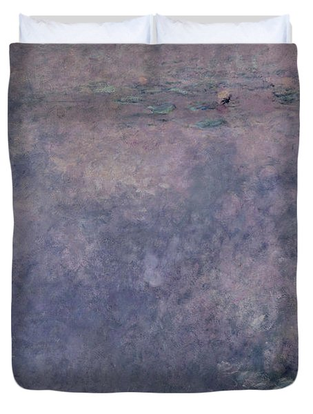 Waterlilies Two Weeping Willows Duvet Cover by Claude Monet