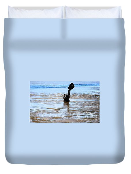 Duvet Cover featuring the photograph Waters Up by Kelly Awad