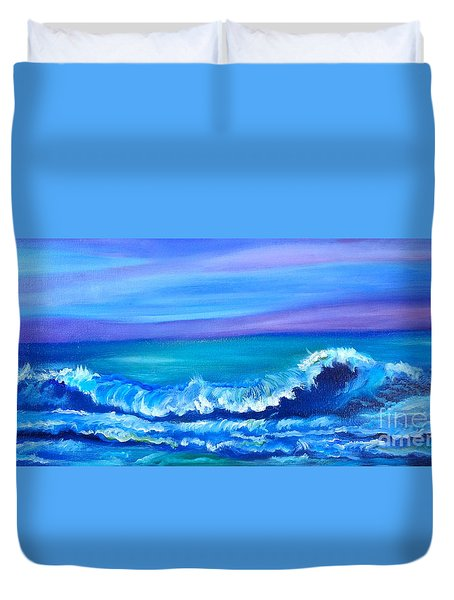 Wave Duvet Cover by Jenny Lee