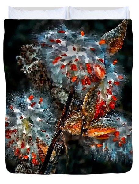 Weed Galaxy  Duvet Cover by Steve Harrington