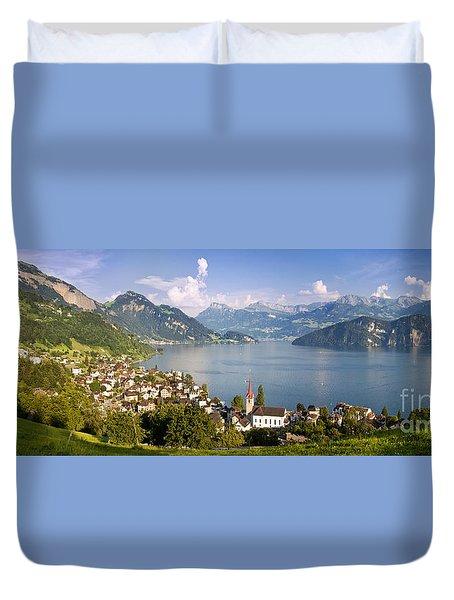 Weggis Switzerland Duvet Cover by Brian Jannsen