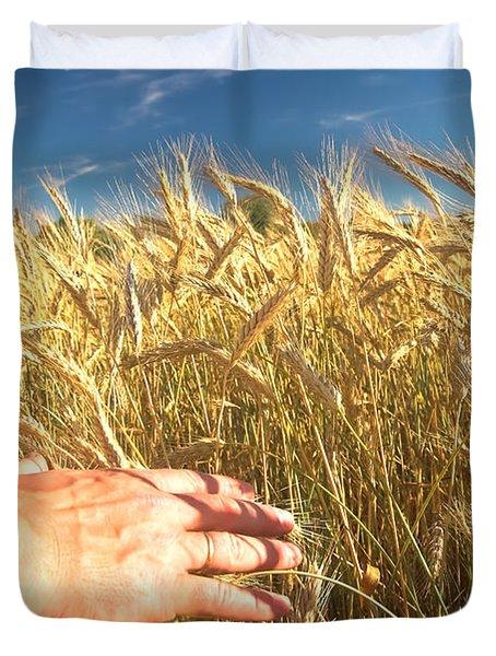 Wheat Field Duvet Cover by Michal Bednarek