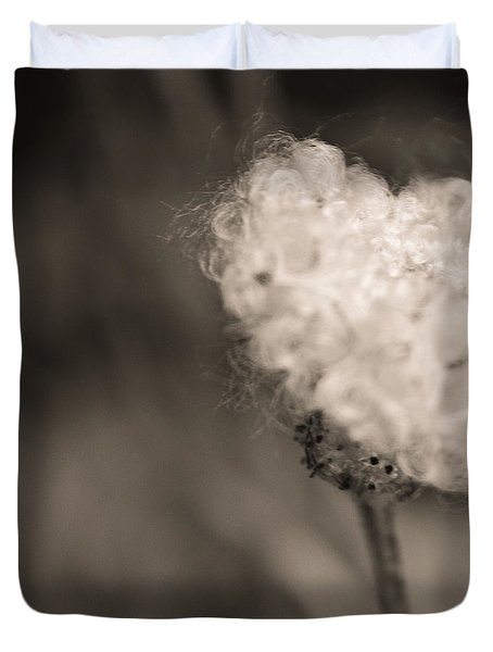 Duvet Cover featuring the photograph White Whisper by Sara Frank