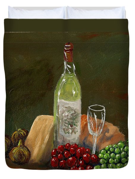 White Wine Duvet Cover