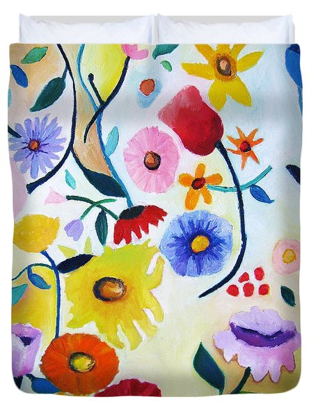 Wildflowers Duvet Cover by Venus