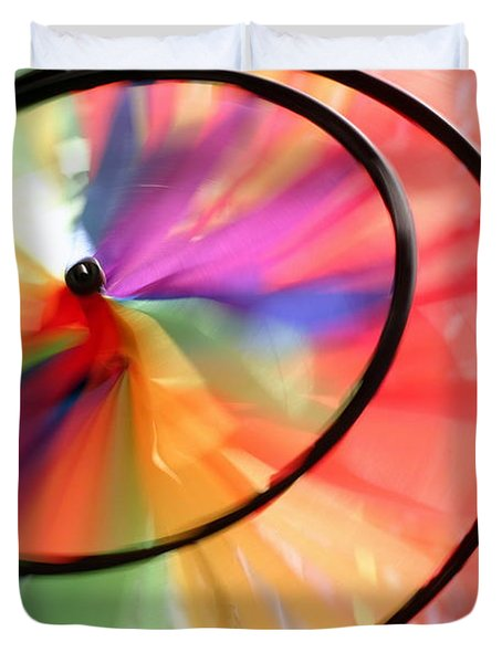 Duvet Cover featuring the photograph Wind Wheel by Henrik Lehnerer