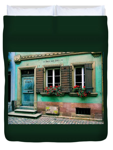 Duvet Cover featuring the photograph Windows And Doors 6 by Maria Huntley