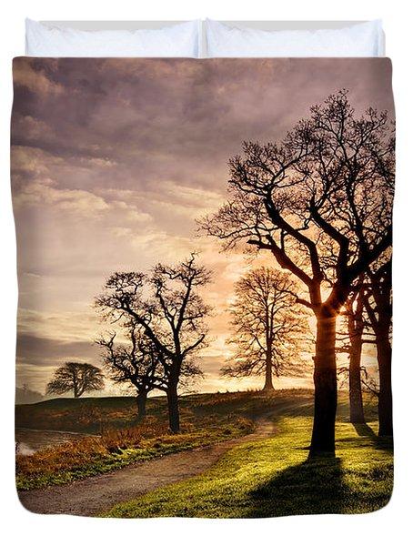 Winter Morning Shadows / Maynooth Duvet Cover