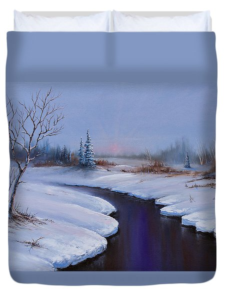 Winter Stillness Duvet Cover by C Steele