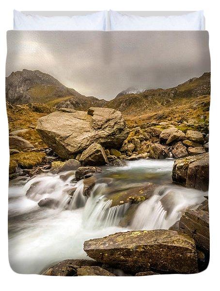 Winter Stream Duvet Cover by Adrian Evans