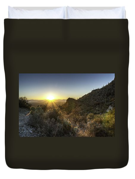 Winter Sunset Duvet Cover by Lynn Geoffroy