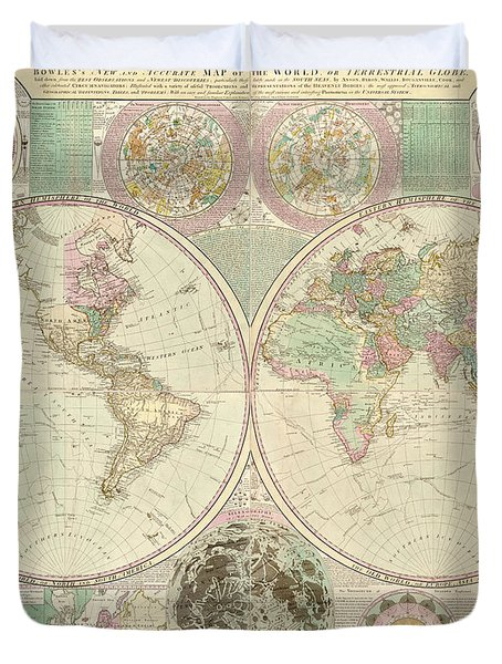 World Map Duvet Cover by Gary Grayson