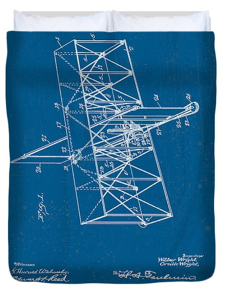 Wright Brothers Flying Machine Patent Duvet Cover