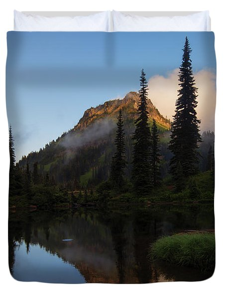 Yakima Peak Reflections Duvet Cover by Mike  Dawson