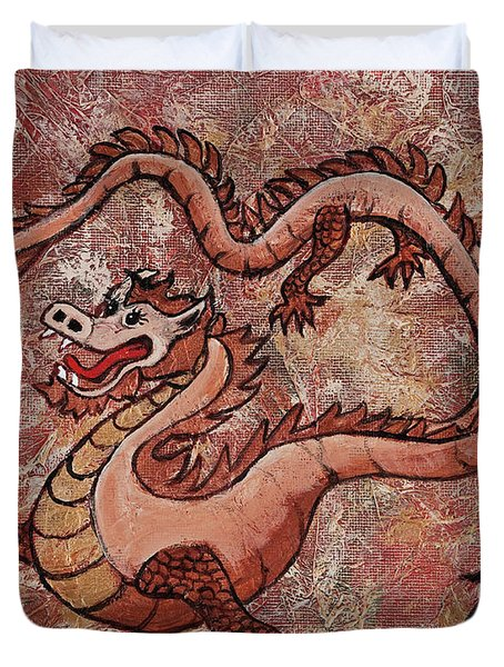 Year Of The Dragon Duvet Cover