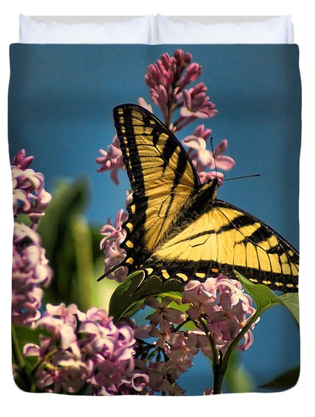 Yellow Swallowtail Duvet Cover