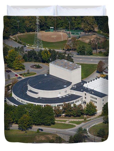 aerials of WVVU campus Duvet Cover by Dan Friend
