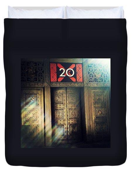 20 Exchange Place Art Deco Duvet Cover by Natasha Marco