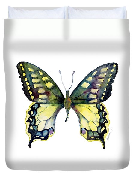 20 Old World Swallowtail Butterfly Duvet Cover
