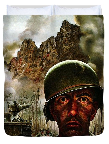 2000 Yard Stare Duvet Cover by Mountain Dreams