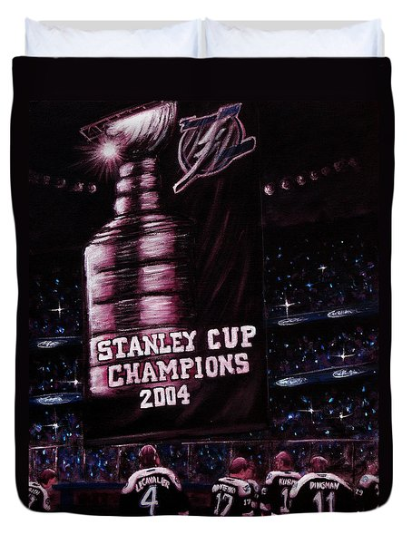 2004 Champs Duvet Cover by Marlon Huynh