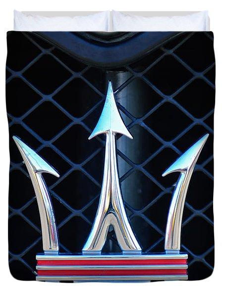 2005 Maserati Gt Coupe Corsa Emblem Duvet Cover