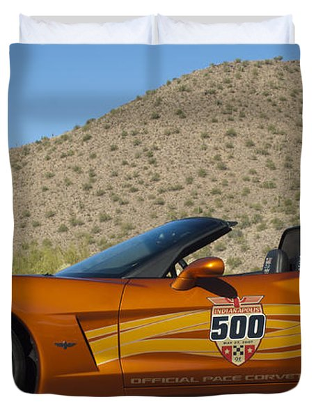 2007 Chevrolet Corvette Indy Pace Car Duvet Cover by Jill Reger