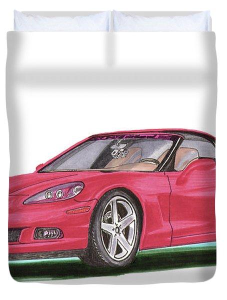 2007 Corvette C 6 Duvet Cover by Jack Pumphrey