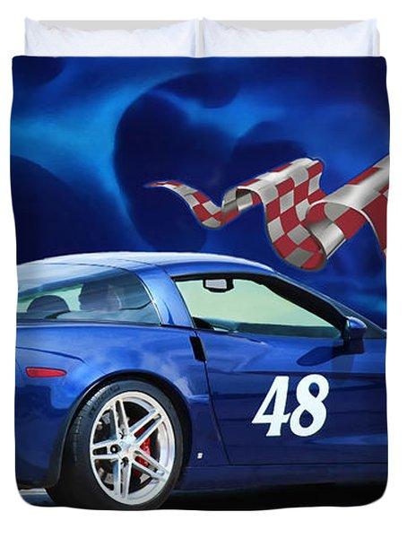 2007 Z06 Corvette Duvet Cover