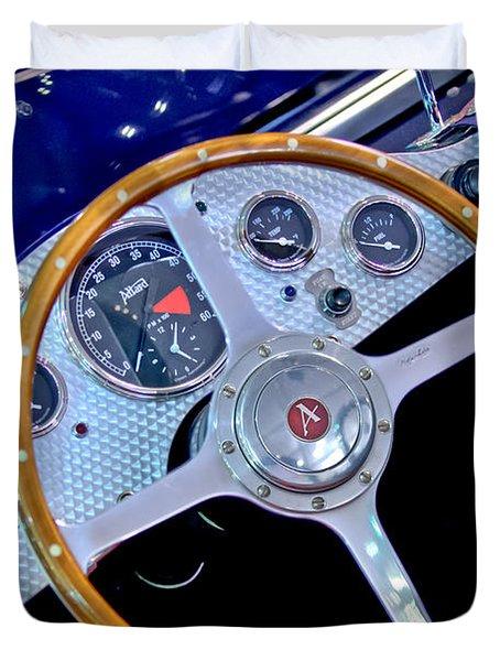 2010 Allard J2x Mk II Commemorative Edition Steering Wheel Duvet Cover by Jill Reger