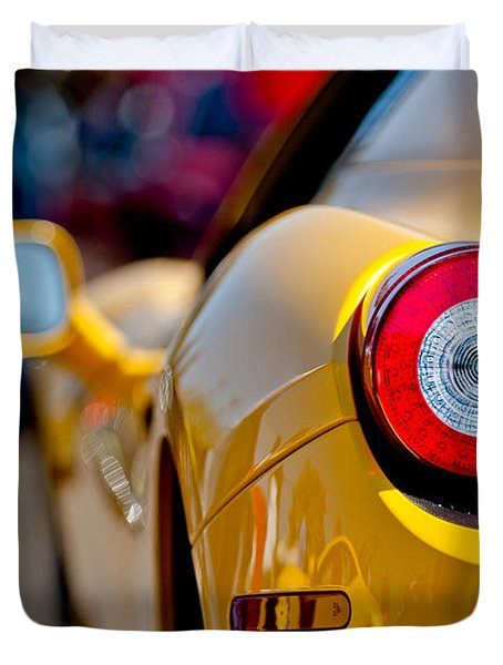 2012 Ferrari 458 Spider Taillight Duvet Cover