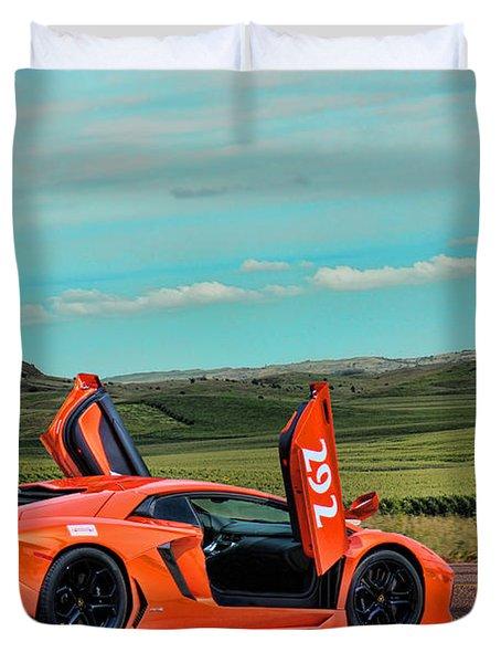 2012 Lamborghini Aventador Duvet Cover