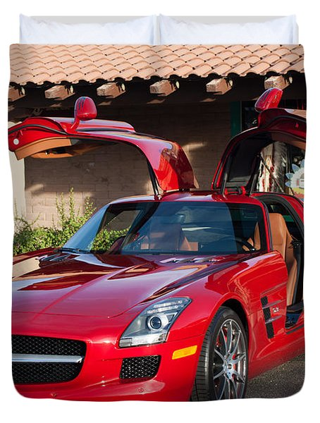 2012 Mercedes-benz Sls Gullwing Duvet Cover