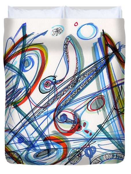 2013 Abstract Drawing #12 Duvet Cover