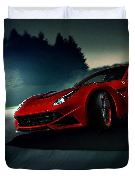 2014 Novitec Rosso Ferrari F12 Berlinetta N Largo Duvet Cover