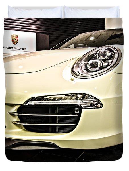 2014 Porsche 911 50th Front Duvet Cover
