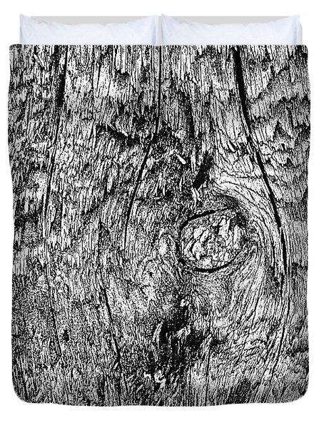 Wooden Post B 'n' W Duvet Cover