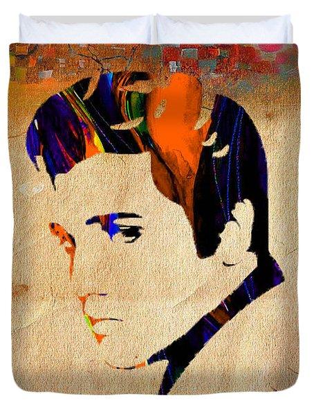 Elvis Presley Duvet Cover by Marvin Blaine
