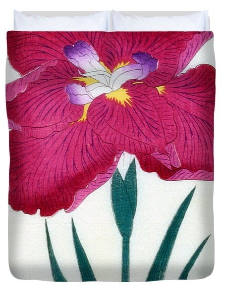 Japanese Flower Duvet Cover by Japanese School