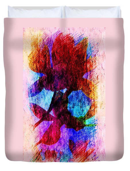 Magnolia In Abstract Duvet Cover
