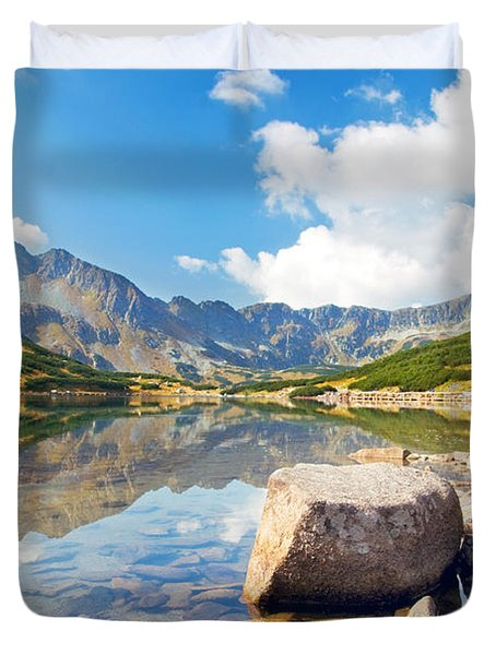 Mountains Landscape Duvet Cover by Michal Bednarek