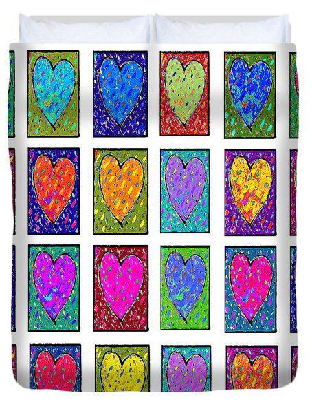 24 Hearts In A Box Duvet Cover