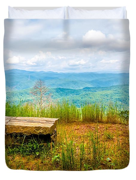 Scenery Around Lake Jocasse Gorge Duvet Cover
