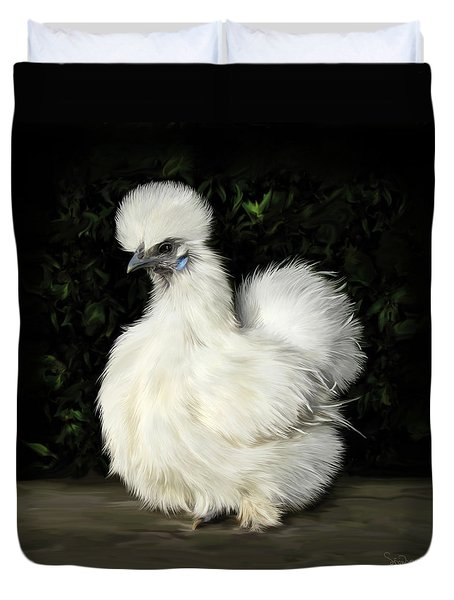 24. Tiny White Silkie Duvet Cover
