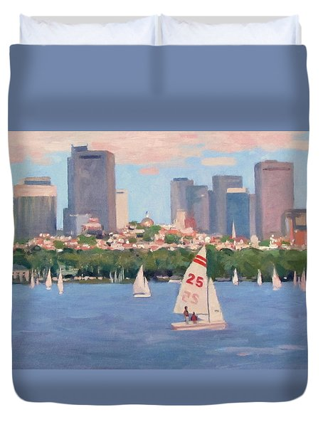 25 On The Charles Duvet Cover by Dianne Panarelli Miller