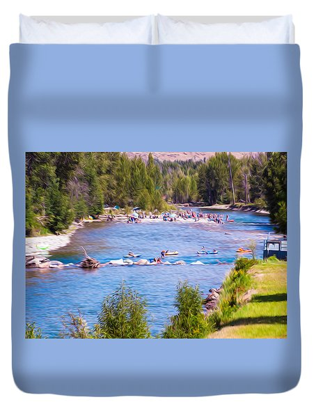 25th Annual Winthrop Rhythm And Blues Festival Duvet Cover by Omaste Witkowski